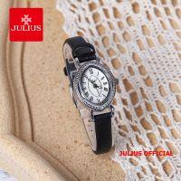 Đồng hồ nữ Julius JA-567 dây da đen | Size 25