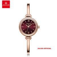 Đồng hồ nữ Julius JA-1293 dây thép mặt đỏ - Size 25