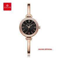 Đồng hồ nữ Julius JA-1293 dây thép mặt đen - Size 25