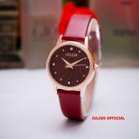 Đồng hồ nữ Julius JA-1219 dây da đỏ - Size 29