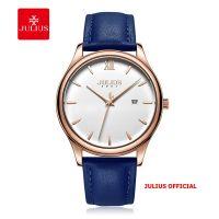 Đồng hồ nam Julius JA-1309 dây da xanh - Size 40