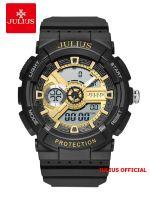 Đồng hồ nam thể thao Julius JA-1299 dây silicon đen | Size 56
