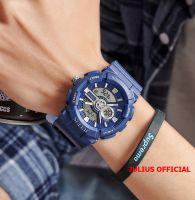 Đồng hồ nam thể thao Julius JA-1299 dây silicon xanh | Size 56