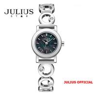 Đồng hồ nữ Julius Star JS-056 dây thép bạc sapphire | Size 24