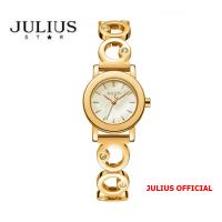 Đồng hồ nữ Julius Star JS-056 dây thép vàng sapphire | Size 24