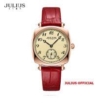 Đồng hồ nữ Julius Star JS-053 dây da đỏ | Size 32