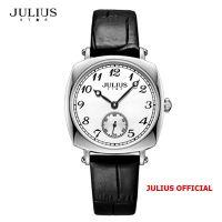 Đồng hồ nữ Julius Star JS-053 dây da đen | Size