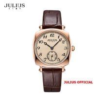Đồng hồ nữ Julius Star JS-053 dây da nâu | Size 32