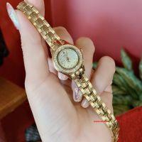 Đồng hồ nữ Julius Star JS-055 dây thép vàng sapphire | Size 23