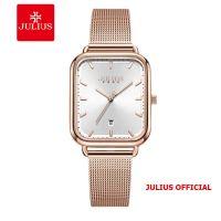 Đồng hồ nữ Julius JA-1297 dây thép mặt trắng | Size 31