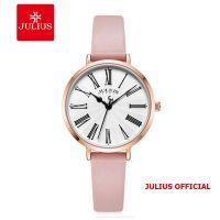 Đồng hồ nữ Julius JA-1300 dây da mặt đen | Size 32