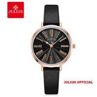 Đồng hồ nữ Julius JA-1300 dây da đen | Size 32