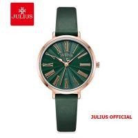 Đồng hồ nữ Julius JA-1300 dây da xanh | Size 32