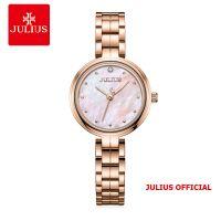 Đồng hồ nữ Julius JA-1294 dây thép mặt trắng | Size 27