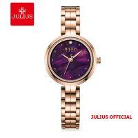 Đồng hồ nữ Julius JA-1294 dây thép mặt tím | Size 27