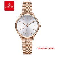 Đồng hồ nữ Julius JA-1298 dây thép mặt trắng | Size 33
