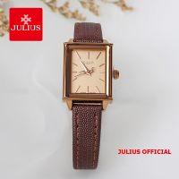 Đồng hồ nữ JULIUS JA787 dây da (nâu) - Size 20