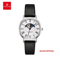 Đồng hồ nữ Julius JA-1308 dây da đen - Size 29