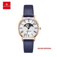Đồng hồ nữ  Julius JA-1308 dây da xanh - Size 29