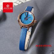Đồng hồ nữ JULIUS JA979 dây da xanh - Size 23