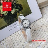 Đồng hồ nữ Julius JA-544 dây da trắng - Size 22