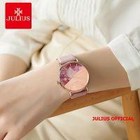 Đồng hồ nữ Julius JA-1312 dây da hồng Size 36