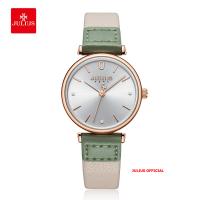 Đồng hồ nữ Julius JA-1306 dây da trắng 28