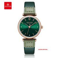 Đồng hồ nữ Julius JA-1306 dây da  lá | Size 28