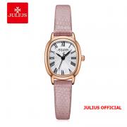 Đồng hồ nữ Julius JA-1301 dây da hồng | Size 20