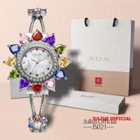 Đồng hồ nữ Julius Star JS-021 trắng bạc | Size 37
