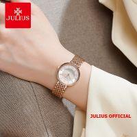 Đồng hồ nữ Julius JA-1302 dây thép vàng đồng| Size 26