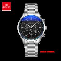 Đồng hồ nam Julius JAH-133 dây thép mặt đen | Size 40