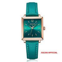 Julius Official | Đồng hồ nữ Julius JA-1322 dây da xanh ngọc