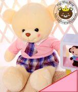Gấu đầm Hana học sinh (60cm, 80cm, 1m2, 1m5)