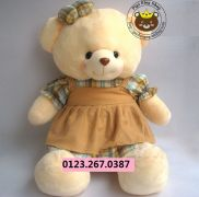 Gấu đầm yếm Hana (60cm,80cm,1m2,1m5)