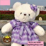 Gấu đầm caro tím (1m1)
