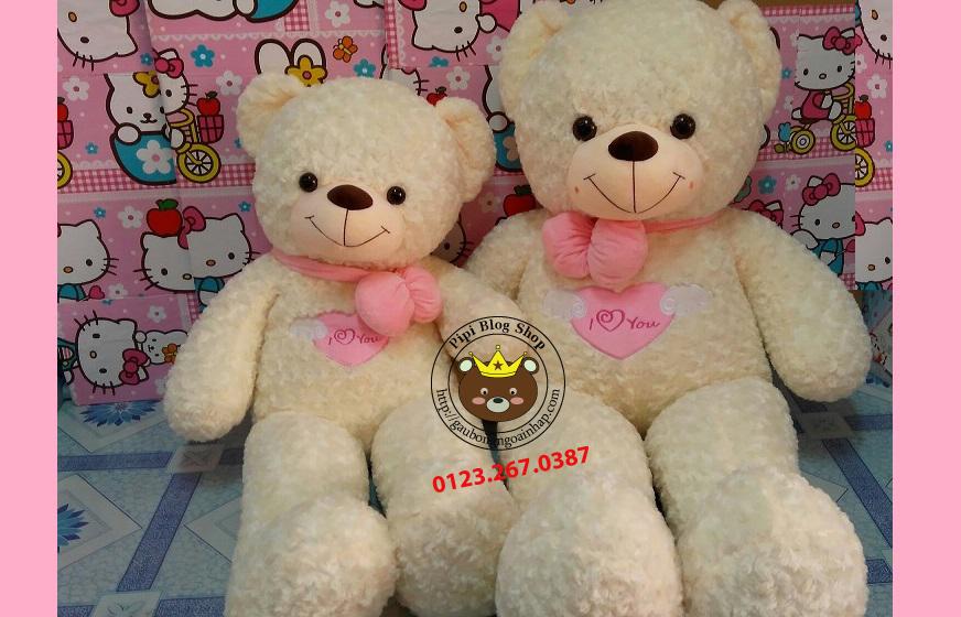 Gấu Teddy Angel trắng (1m2, 1m4, 1m8)