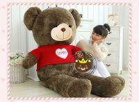 Gấu bông Teddy Jack bear áo len Love (1m8, 2m3)