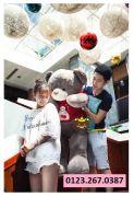 Gấu bông Teddy áo len Baymax (1m2 - 1m4)