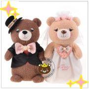 Gấu cặp cô dâu chú rể hàng cao cấp Metoo (40cm)