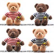 Gấu bông Teddy Baby áo len đỏ/ xanh(40cm, 50cm, 80cm, 1m2, 1m4)