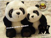 Gấu bông Panda ngồi lông dày cao cấp