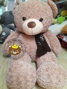 Gấu teddy quàng khăn Limit Edition lông xoắn nhung mịn (60cm, 80cm, 1m2, 1m4)