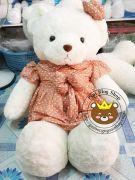 Gấu đầm hoa li ti nâu (1m3)