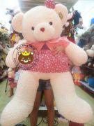Gấu đầm lông Thái váy hồng (1m4)