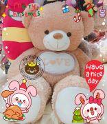 Gấu nâu bụng Love (1m4)