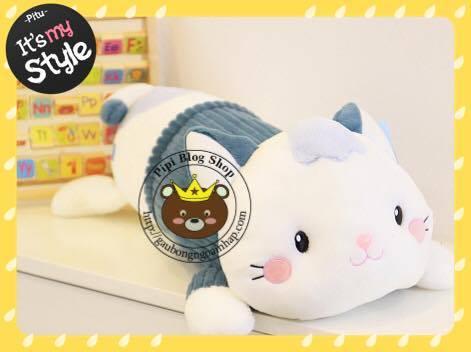 Gối ôm Mèo bông áo nhung (60cm)