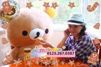 Gấu bông Rilakkuma Happy Hàn quốc (1m2)