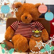 Teddy lông xù áo len sọc ngang bigsize (1m4)