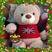 Gấu áo len cờ anh (1m2, 1m4)
